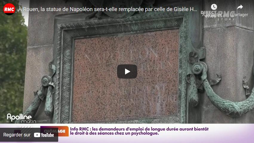 À Rouen, la statue de Napoléon sera-t-elle remplacée par celle de Gisèle Halimi ?