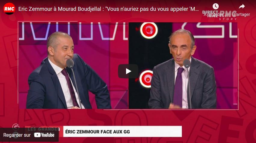 """Eric Zemmour à Mourad Boudjellal : """"Vous n'auriez pas du vous appeler 'Mourad'"""" (VIDÉO)"""